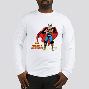 The Mighty Thor Personalized D Long Sleeve T-Shirt