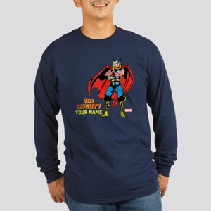 The Mighty Thor Personali Long Sleeve Dark T-Shirt