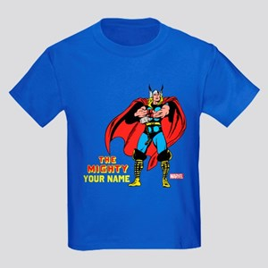 The Mighty Thor Personalized Des Kids Dark T-Shirt