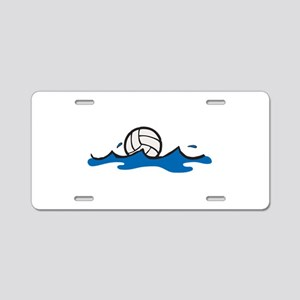 Water Polo Ball Aluminum License Plate