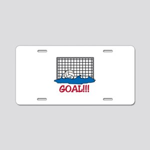 Water Polo Goal Aluminum License Plate