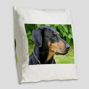 dobie 2 Burlap Throw Pillow