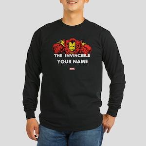 The Invincible Iron Man P Long Sleeve Dark T-Shirt