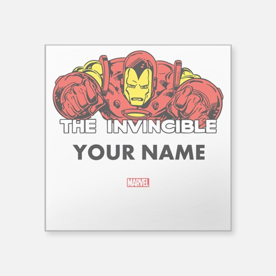 "The Invincible Iron Man Per Square Sticker 3"" x 3"""