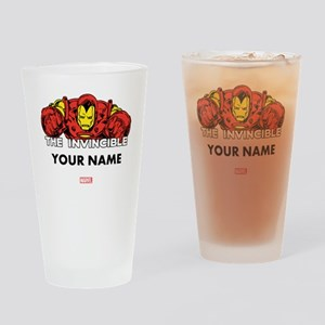 The Invincible Iron Man Personalize Drinking Glass