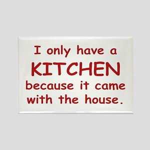 Kitchen Humor Rectangle Magnet