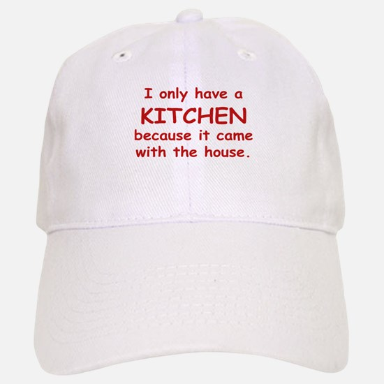 Kitchen Humor Baseball Baseball Cap