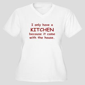 Kitchen Humor Women's Plus Size V-Neck T-Shirt
