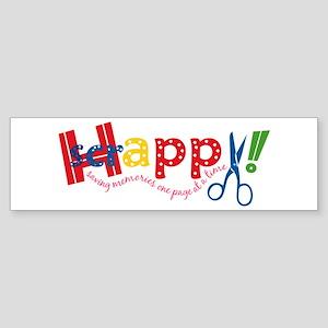 Happy Scrappy Bumper Sticker