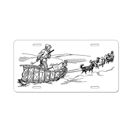 Mush to the 19th Hole! Aluminum License Plate by listing