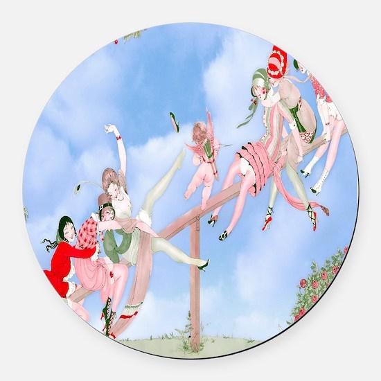 Gerda Wegener Game of Love Shower Round Car Magnet