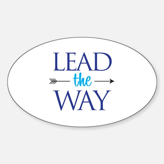 Lead The Way - Oval Decal