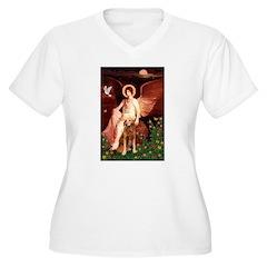 Angel & Golden Retrieve T-Shirt