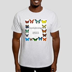 Lepidopterology Rocks 3 Light T-Shirt