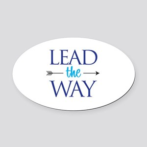 Lead The Way - Oval Car Magnet