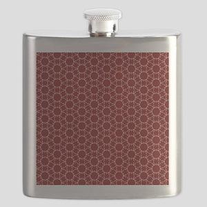 Burgundy White Honeycomb Pattern Flask
