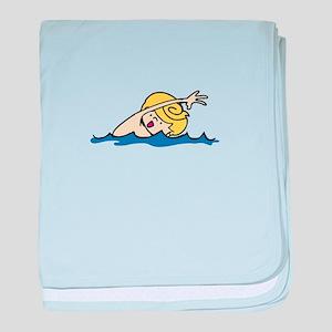Swimmer Boy baby blanket