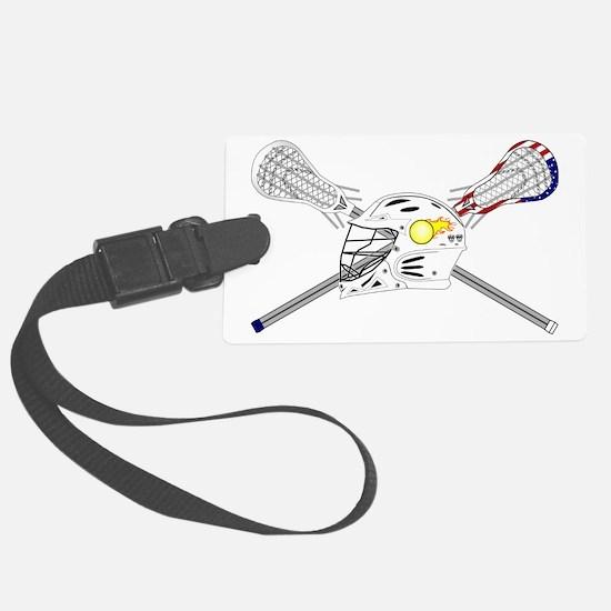 Lacrosse Sticks Modern Luggage Tag