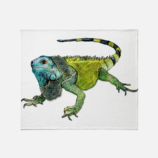 Funny Iguana Throw Blanket