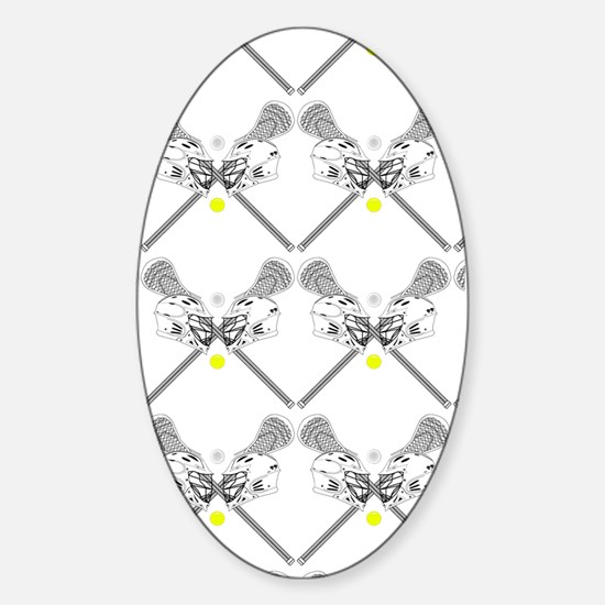 Lacrosse Swatch 4 Sticker (Oval)