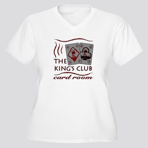 Kings Club Women's Plus Size V-Neck T-Shirt