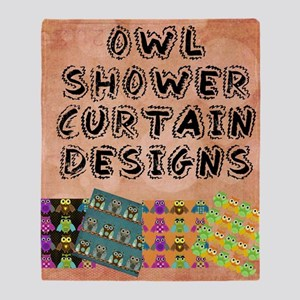 Owl Shower Curtain Designs Throw Blanket