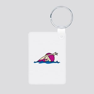 Swimmer Girl Keychains