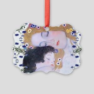 Klimt Art Deco Mother Child Bathm Picture Ornament