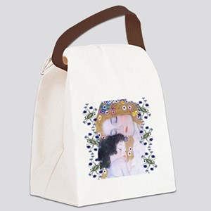 Klimt Art Deco Mother Child Bathm Canvas Lunch Bag