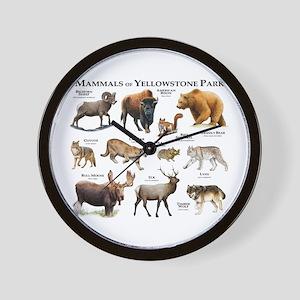 Mammals of Yellowstone National Park Wall Clock