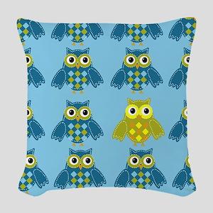 Owls Shower Curtain Woven Throw Pillow