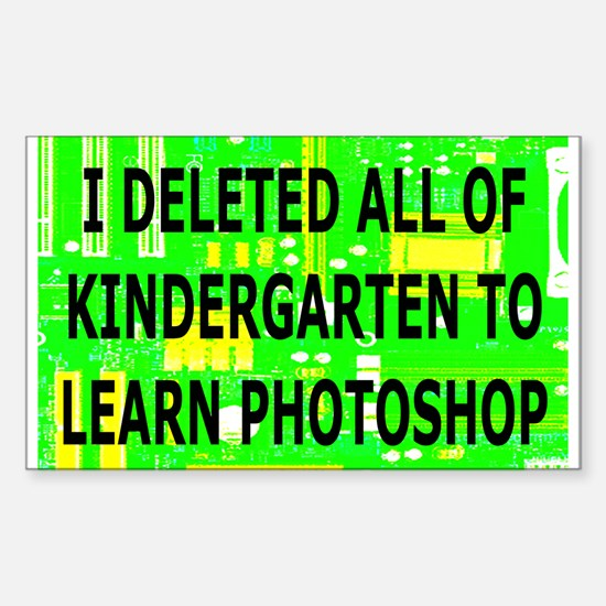 Deleted Kindergarten Rectangle Decal