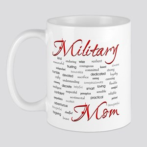 Military Mom poem of words Mug