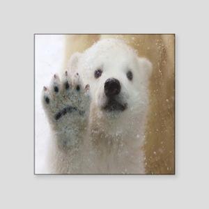 Cute Polar Bear Cub Waving Sticker