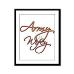 Army Wife  Framed Panel Print