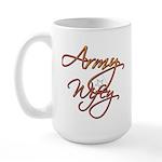 Army Wife Large Mug
