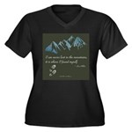 Never Lost in Mountains Plus Size T-Shirt