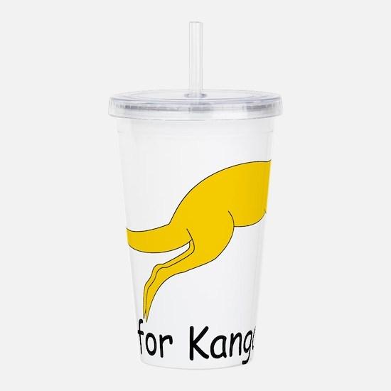Kangaroo10.png Acrylic Double-wall Tumbler