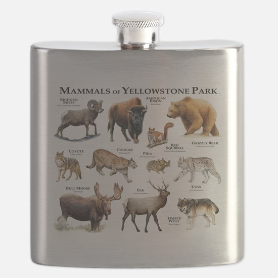 Mammals of Yellowstone National Park Flask