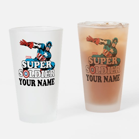 Captain America Super Soldier Perso Drinking Glass