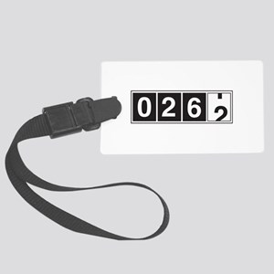 26.2 odometer running Luggage Tag