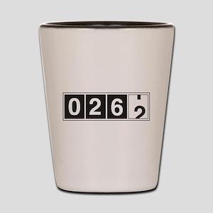 26.2 odometer running Shot Glass