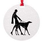Art Deco Lady And Borzoi Medallion