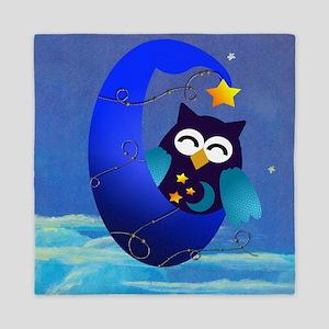 Night Time Owl Queen Duvet