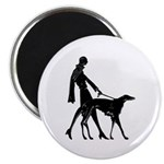 Flapper And Borzoi Magnet