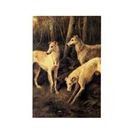 Borzoi In The Forest Magnet