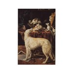 Borzoi And Cats Magnets 10 PK