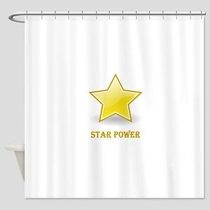 Star Power - Gold Shower Curtain