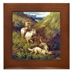 The Hunt Framed Tile