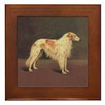 Vintage Borzoi Framed Tile